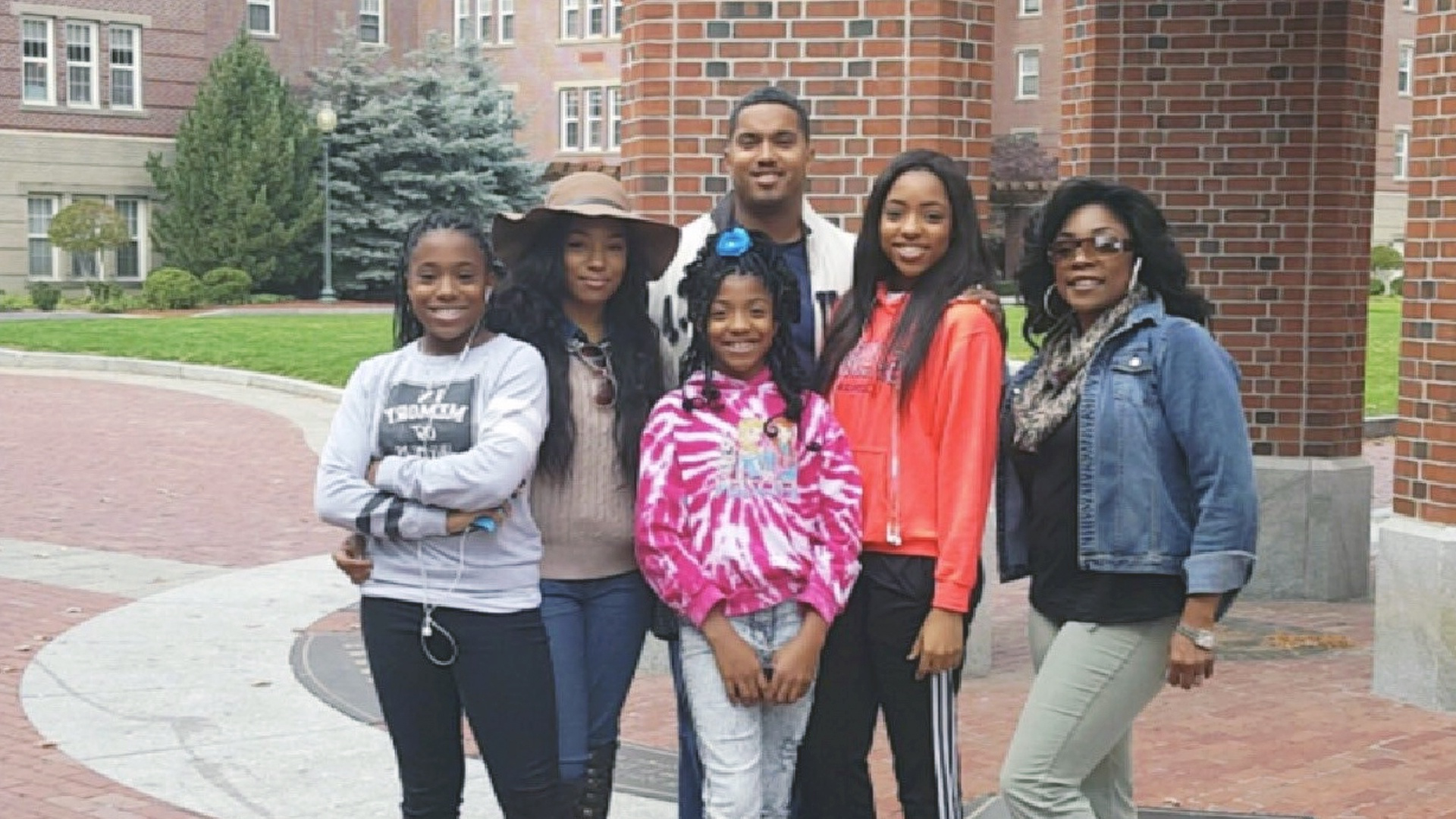 Corbin Family:  (L-R) Kimberly, Shawn, Sloane, Sydney, Samantha, and Terrance in back.